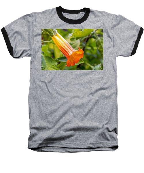 Trumpet Flower Baseball T-Shirt