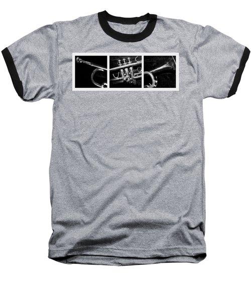 Trumpet Triptych Baseball T-Shirt