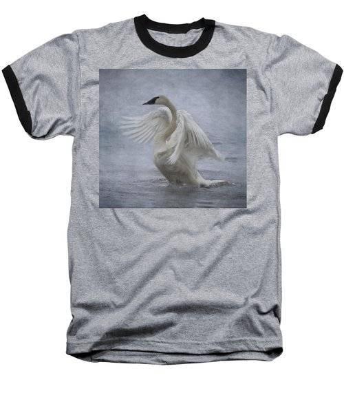 Trumpeter Swan - Misty Display Baseball T-Shirt