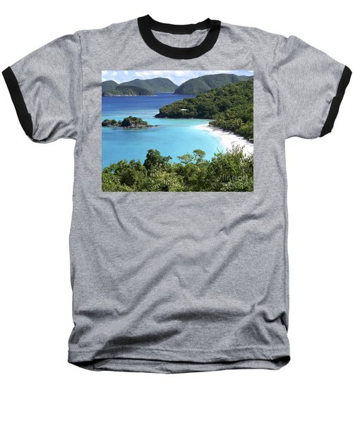 Baseball T-Shirt featuring the photograph Trunk Bay II by Carol  Bradley
