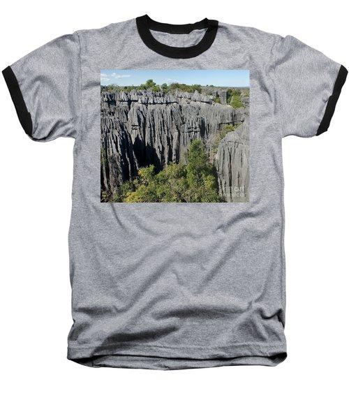 Tsingy De Bemaraha Madagascar 1 Baseball T-Shirt by Rudi Prott