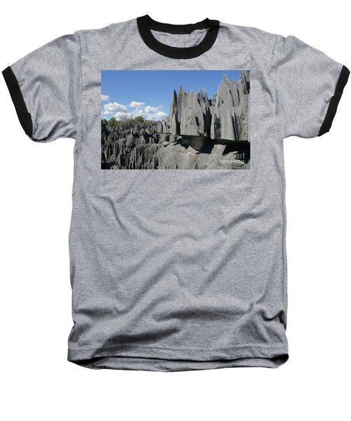 Tsingy De Bemaraha Madagascar 2 Baseball T-Shirt by Rudi Prott