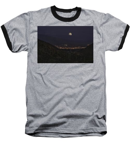 Baseball T-Shirt featuring the photograph Tucson At Dusk by Lynn Geoffroy