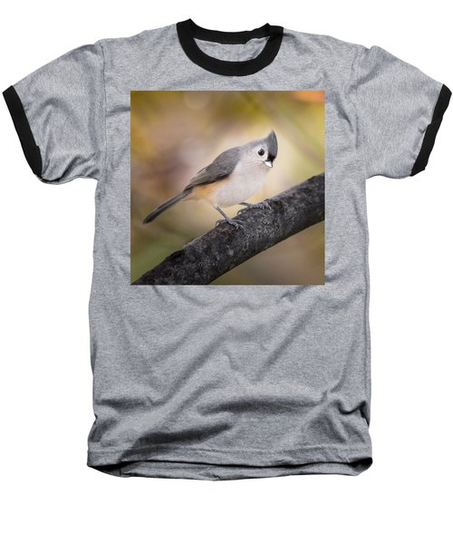 Tufted Titmouse Baseball T-Shirt by Bill Wakeley