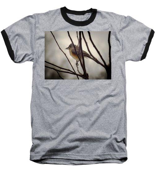 Tufted Titmouse Baseball T-Shirt