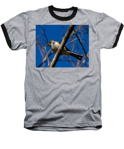 Tufted Titmouse Baseball T-Shirt