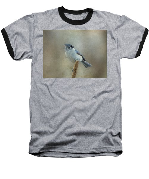 Tufted Titmouse Watching Baseball T-Shirt