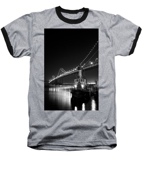 Tugboat Under The Bay Bridge Baseball T-Shirt