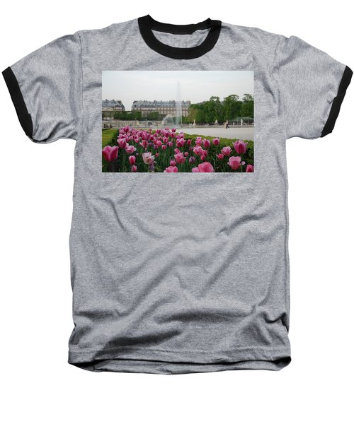 Baseball T-Shirt featuring the photograph Tuileries Garden In Bloom by Jennifer Ancker
