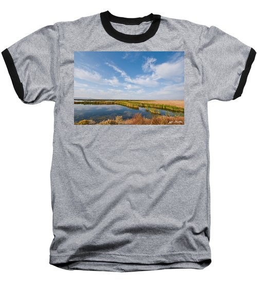 Baseball T-Shirt featuring the photograph Tule Lake Marshland by Jeff Goulden