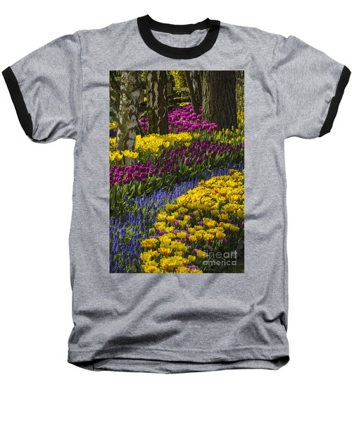 Tulip Beds Baseball T-Shirt