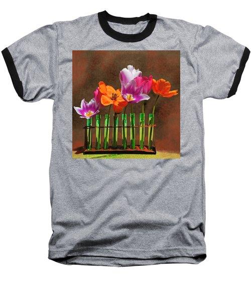 Tulip Experiments Baseball T-Shirt by Jeff Burgess