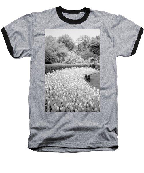 Tulips And Bench II Baseball T-Shirt