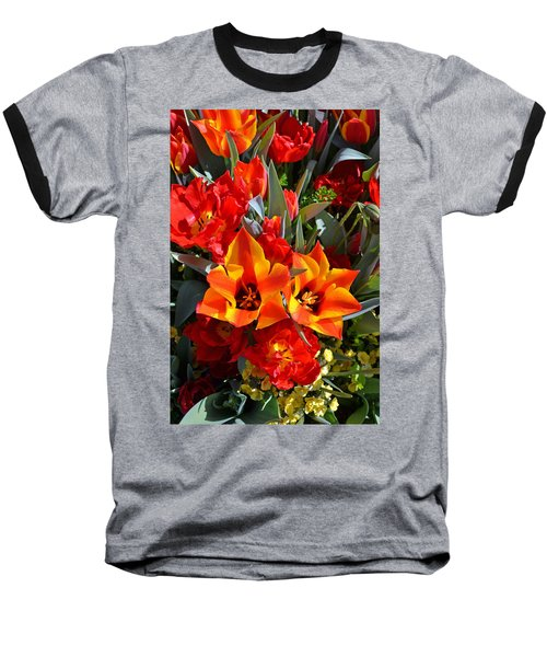 Tulips At The Pier Baseball T-Shirt