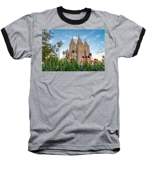 Tulips At The Temple Baseball T-Shirt