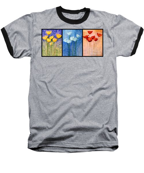 Tulips Collage  Baseball T-Shirt