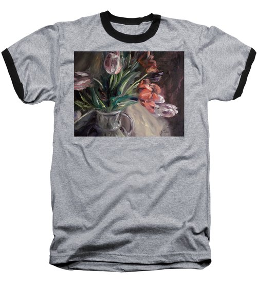 Baseball T-Shirt featuring the painting Tulips by Donna Tuten