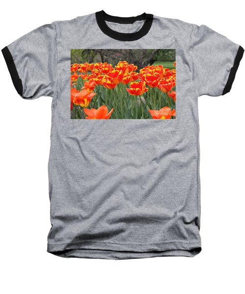 Baseball T-Shirt featuring the photograph Tulips From Brooklyn by John Telfer