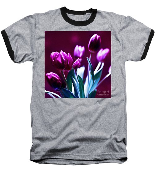 Purple Tulips Baseball T-Shirt