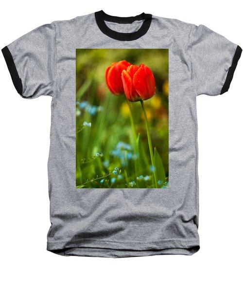 Tulips In Garden Baseball T-Shirt