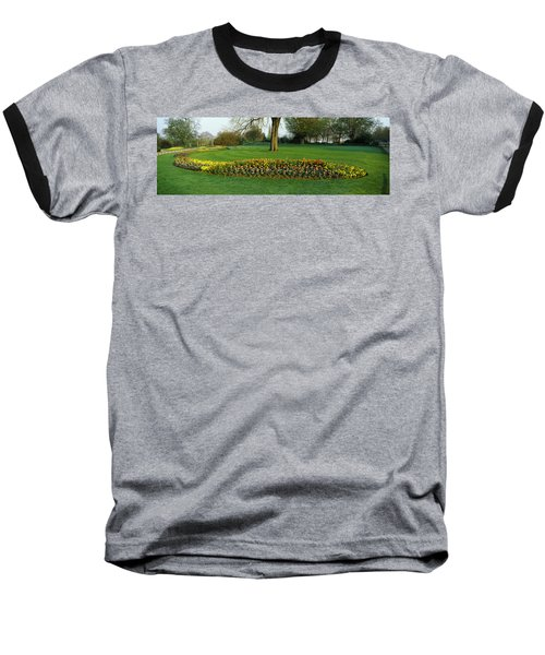 Tulips In Hyde Park, City Baseball T-Shirt by Panoramic Images