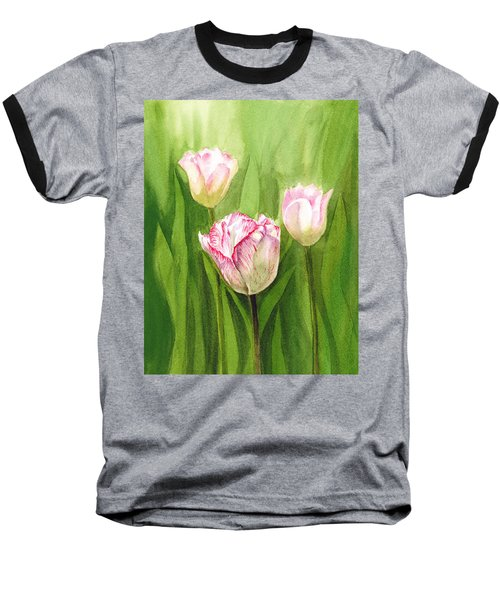 Tulips In The Fog Baseball T-Shirt