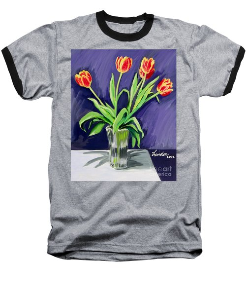 Tulips On The Table Baseball T-Shirt