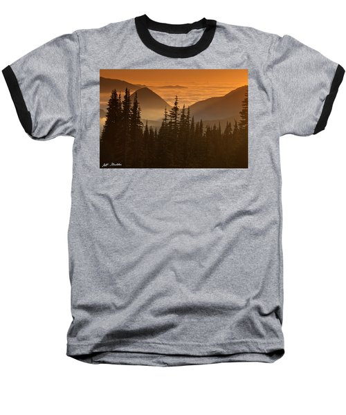 Baseball T-Shirt featuring the photograph Tumtum Peak At Sunset by Jeff Goulden