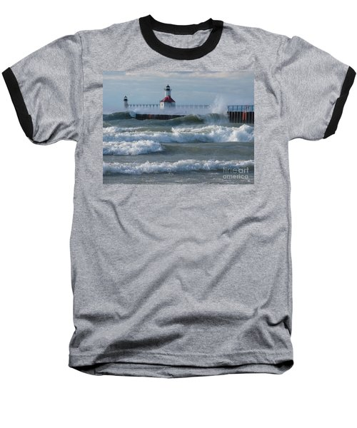 Tumultuous Lake Baseball T-Shirt by Ann Horn
