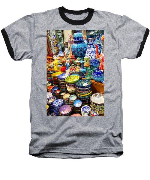 Turkish Ceramic Pottery 1 Baseball T-Shirt by David Smith