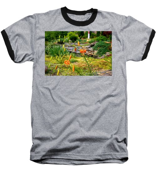 Baseball T-Shirt featuring the photograph Turk's Cap Lily by Kathryn Meyer