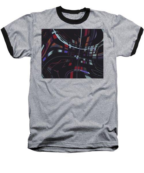 Baseball T-Shirt featuring the digital art Turmoil by Judi Suni Hall