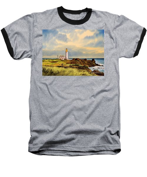 Turnberry Golf Course 9th Tee Baseball T-Shirt by Bill Holkham