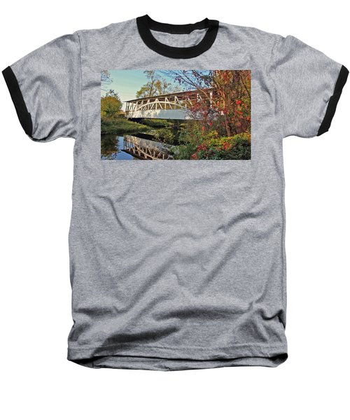 Baseball T-Shirt featuring the photograph Turner's Covered Bridge by Suzanne Stout