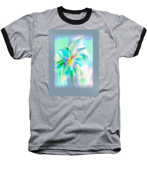 Baseball T-Shirt featuring the digital art Turquoise Bloom by Frank Bright
