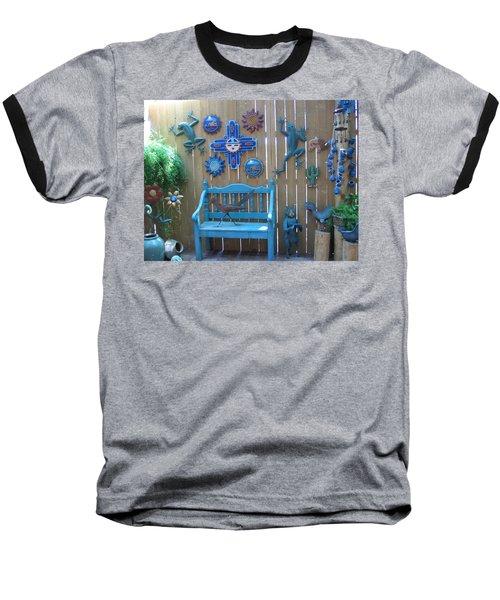 Baseball T-Shirt featuring the photograph Turquoise Corner by Dora Sofia Caputo Photographic Art and Design