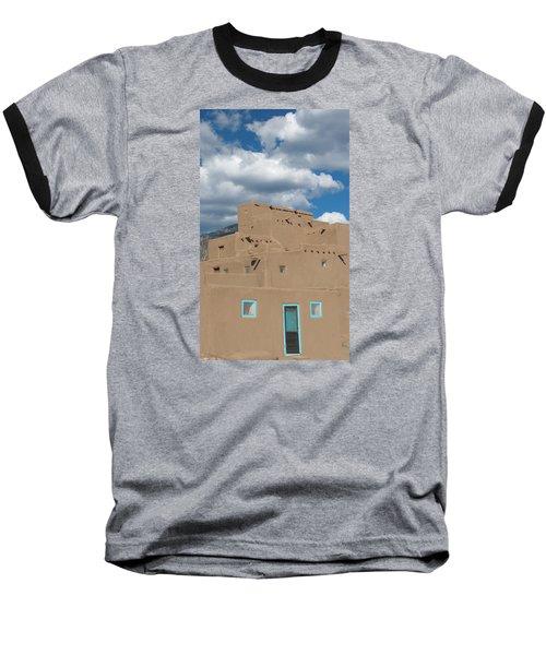 Turquoise Door And Windows Baseball T-Shirt by Elvira Butler