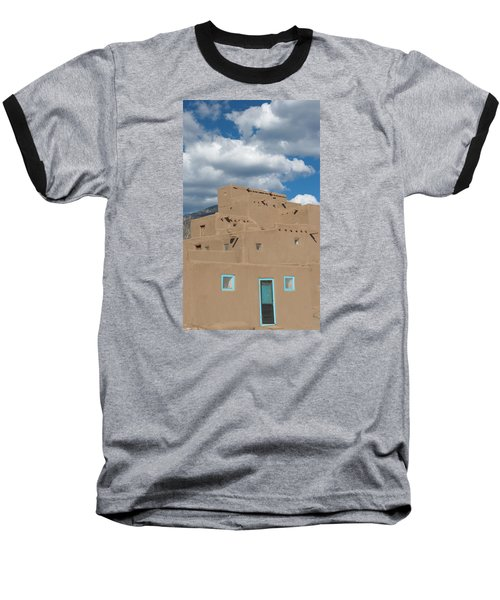 Turquoise Door And Windows Baseball T-Shirt