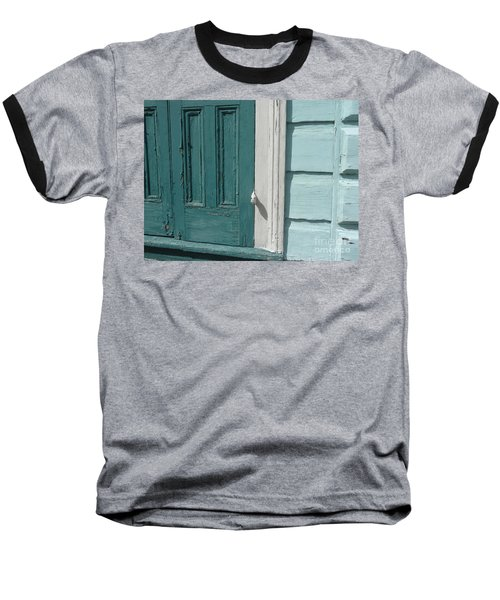 Baseball T-Shirt featuring the photograph Turquoise Door by Valerie Reeves