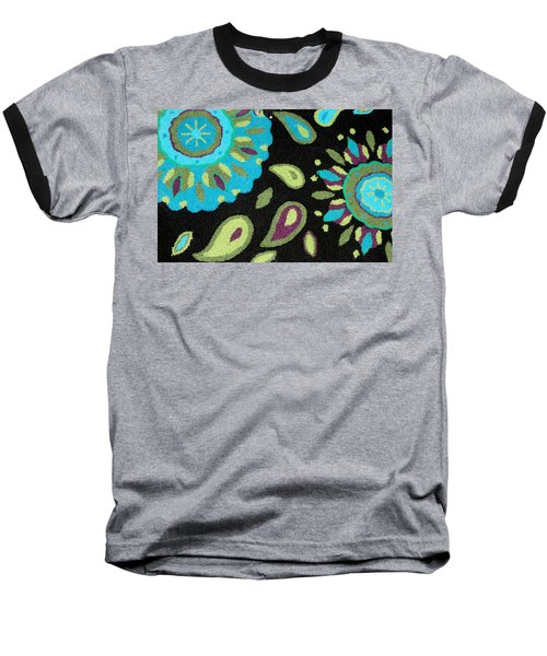 Baseball T-Shirt featuring the photograph Tapestry Turquoise Rug by Janette Boyd