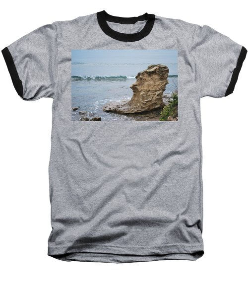 Turquoise Sea Baseball T-Shirt by George Katechis