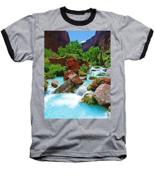 Turquoise Stream Baseball T-Shirt