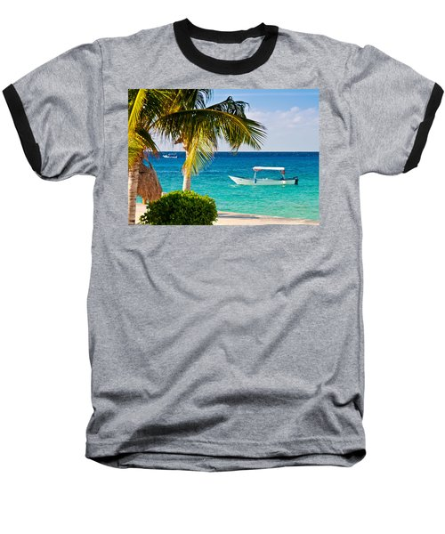 Turquoise Waters In Cozumel Baseball T-Shirt
