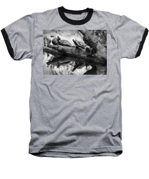Turtle Bffs Bw By Denise Dube Baseball T-Shirt