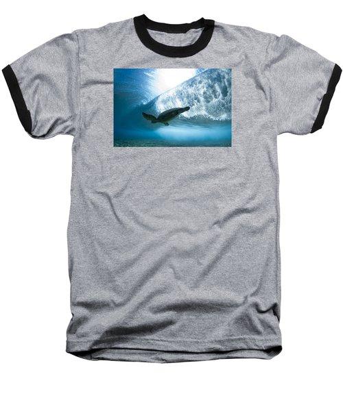Turtle Clouds Baseball T-Shirt