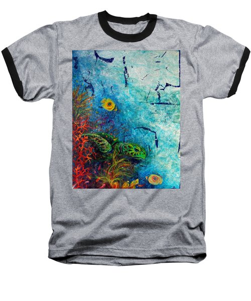Turtle Wall 1 Baseball T-Shirt