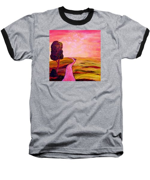 Baseball T-Shirt featuring the painting Tuscan Skies ... An Impressionist View by Eloise Schneider