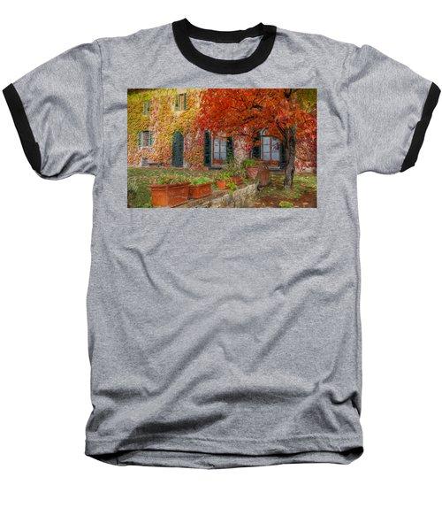 Tuscan Villa In Autumn Baseball T-Shirt