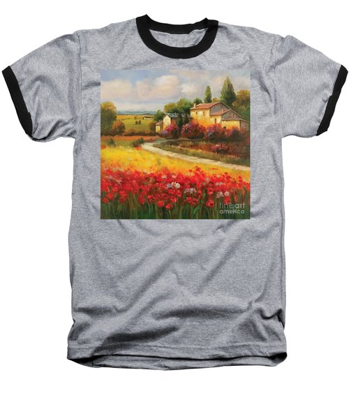 Tuscan Villa  Baseball T-Shirt by Tim Gilliland
