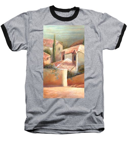 Baseball T-Shirt featuring the painting Tuscan Village by Michael Rock